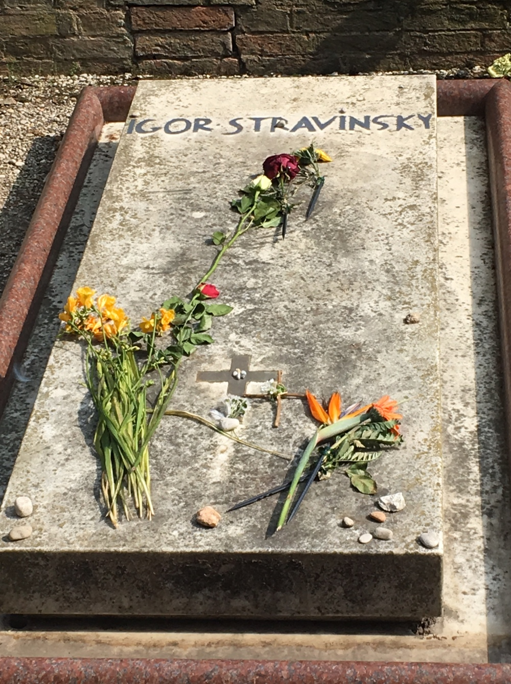Tombe d'Igor Stravinsky
